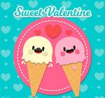 情人节冰淇淋情侣