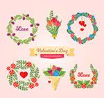 情人节花束和花环