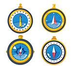 蓝色指南针设计
