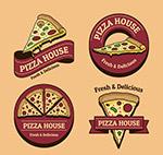 复古披萨屋标签