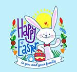 彩绘复活节彩蛋兔子