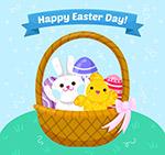 复活节兔子和鸡