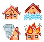 自然灾害中的房屋