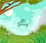 美丽春季郊外风景