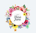 春季圆形花卉框架