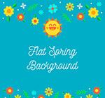 春季太阳和花卉