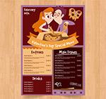 情侣餐馆菜单