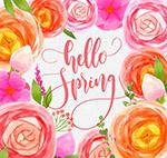 你好春季花朵