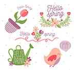 春季元素标签