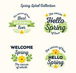 春季黄色花卉标签