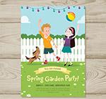 儿童花园派对传单