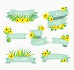 春季花卉条幅