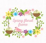 春季花卉框架