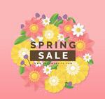 春季花卉销售海报