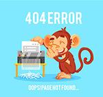 猴子404错误页