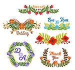 纸质花卉婚礼标签