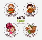 卡通人物餐饮标志