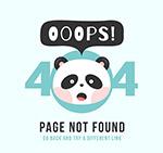 熊猫头像404错误页
