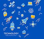 科技元素贴纸背景