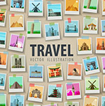 环球旅行照片墙