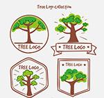 手绘树木标志