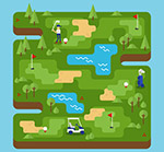 高尔夫球场地图