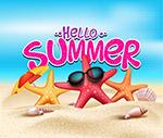 夏季沙滩海星