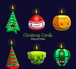 可爱表情圣诞蜡烛