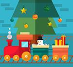 圣诞节玩具火车