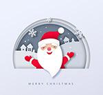 雪地微笑圣诞老人