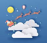 云上的圣诞雪橇
