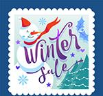 冬季销售邮票矢量