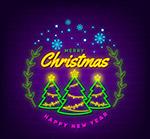 圣诞树霓虹灯