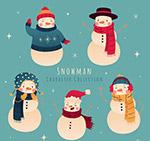 可爱冬季雪人