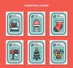 白边圣诞节邮票