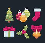 彩色圣诞物品