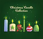 彩色圣诞蜡烛