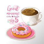 甜甜圈和咖啡海报