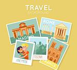 创意环球旅行照片