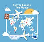 旅行飞机和地图