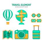绿色旅行物品