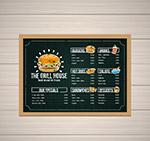 烧烤屋黑板画菜单