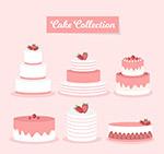 粉色节日蛋糕