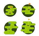 高尔夫球场矢量