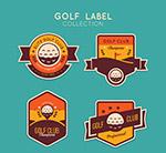 高尔夫标签矢量