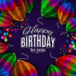 纸质气球生日贺卡