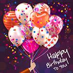 生日气球束贺卡