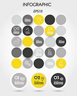 圆形组合商务信息图
