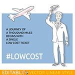 飞机低成本宣传海报