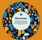 彩色圆环花卉框架